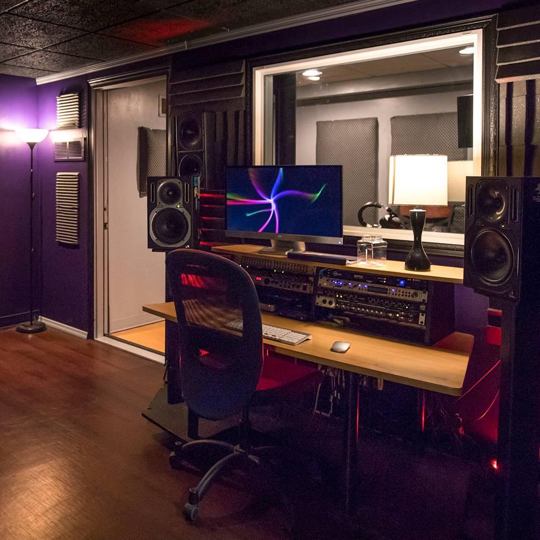 unlabeled music studio a recording studio